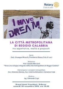 convegno Rotary Città Metropolitana di Reggio Calabria